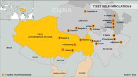 Tibet Self-Immolation Map, October 4, 2012 update