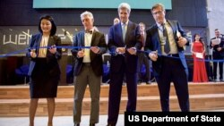 Secretary Kerry Participates in Ribbon-Cutting Ceremony at the American University of Central Asia.