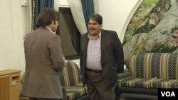 Hilmi Hacaloğlu Rimalan'da Salih Müslim'le görüştü
