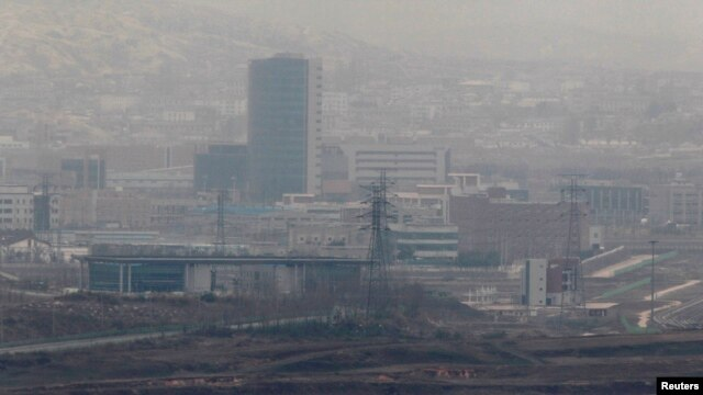 The inter-Korean Kaesong Industrial Complex is seen in this picture taken near the truce village of Panmunjom in Paju, about 55 km (34 miles) north of Seoul April 23, 2013.