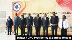 Abakuru b'ibihugu n'amareta ba SADC mu nama i Luanda, muri Angola. Italiki 24/04/2018.