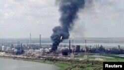 Eksplozija u rumunskoj rafineriji Petromidija.