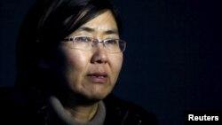 人权律师王宇在北京接受路透社采访(2014年3月1日)