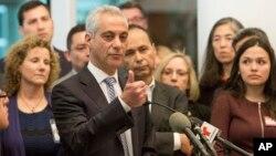"""El alcalde de Chicago, Rahm Emanuel, es uno de los que se oponen a las políticas de Trump respecto de las ciudades """"santuario""""."""