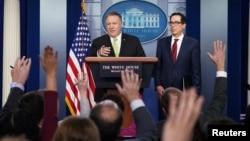 Госсекретарь США Майк Помпео и министр финансов США Стивен Мнучин (архивное фото)
