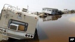 北卡罗来纳州一个宿营地被水淹没