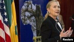 克林顿国务卿在达喀尔大学发表讲话
