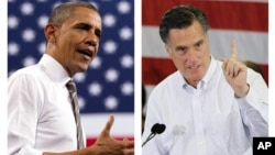 Tổng thống Obama (trái) và ông Romney