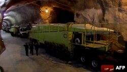 이란 혁명수비대가 14일 공개한 지하 500미터 위치의 미사일 기지.