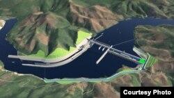 រូបភាពនៃគម្រោងសាងសង់ទំនប់វារីអគ្គីសនីថ្មីរបស់ឡាវ ឈ្មោះប៉ាក់ បេង(Pak Beng)/រូបថតដោយPak Beng hydropower project (Courtesy Photo)