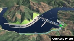 A computer image of the proposed Pak Beng hydropower dam. (Courtesy photo of Pak Beng hydropower project)