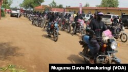 Boda boda drivers in Juba in July.