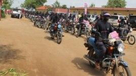 Boda boda drivers in Juba in July.