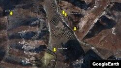 谷歌地圖顯示據稱是北韓的第12號勞改營(資料照片)