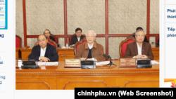 Ông Nguyễn Phú Trọng chủ trì phiên họp của Bộ Chính trị sáng 20/3 về công tác phòng, chống dịch COVID-19.