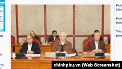 Ông Nguyễn Phú Trọng chủ trì một phiên họp của Bộ Chính trị sáng 20/3, bàn về công tác phòng, chống dịch COVID-19.