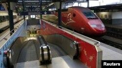 Stasiun kereta api di Brussels, Belgia tampak sepi akibat pemogokan karyawan (foto: dok).