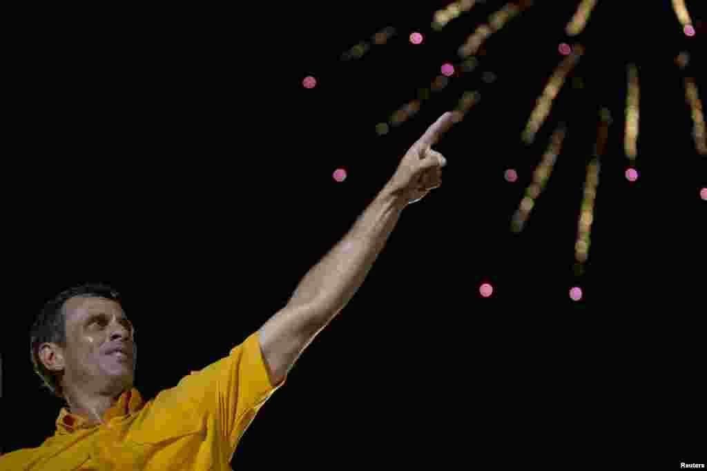 Final de campaña para Henrique Capriles.