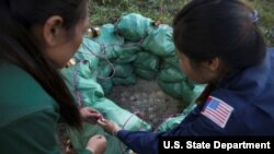 Laotian mine diffusers.