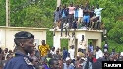 Manifestation en faveur du coup d'Etat, à Bamako, le 28 mars 2012