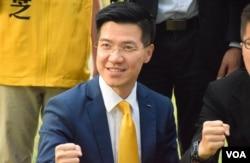 新同盟立法會議員范國威。(美國之音唐慧雲攝)