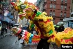 纽约市中国城2020年1月25日举行春节活动