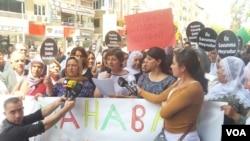 Protest for Farinaz Khosrawani
