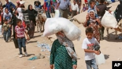آوارگان سوری در ۴۳۰ کیلومتری شمال بغداد، ۲۰ اوت ۲۰۱۳