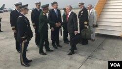 Bộ trưởng Quốc phòng Jim Mattis đặt chân tới Hà Nội hôm 24/1.