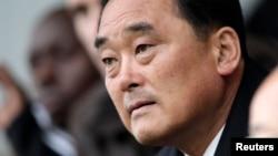 Ông So SePyong, Đại sứ Bắc Triều Tiên tại Geneve. (REUTERS/Denis Balibouse)