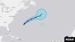 Se espera que Nicole produzca entre 13 y 20 cm de lluvia esta noche sobre Bermuda.