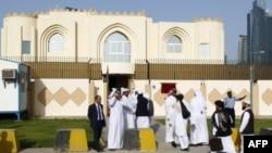 Kantor perwakilan Taliban di Doha, Qatar (foto: dok). Afghanistan minta penjelasan lengkap mengapa Taliban diperbolehkan menaikkan benderanya di Qatar.