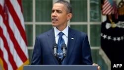 奥巴马总统周二在白宫会见国会议员后发表谈话