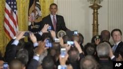 美國總統奧巴馬6月15日在白宮舉行的一個慶祝同性戀者驕傲月的招待會上發表講話