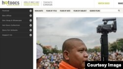 """A Cambodian Spring"" premiered on May 3 at the Hot Docs Canadian International Documentary Festival in Toronto, Canada (Screenshot of Hot Docs website)."
