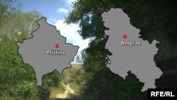 Kosovo i Srbija (Foto: RFE/RL)