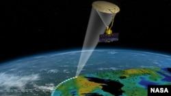 美國太空總署發射的衛星SMAP ,主要觀察水的循環 。 (NASA 網頁圖片)