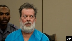 FILE - Robert Lewis Dear appears in court in Colorado Springs, Colorado, Dec. 9, 2015.