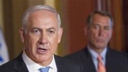 نتانیاهو به همراه جان بونر، سخنگوی کاخ سفید. واشنگتن ۲۴ مه ۲۰۱۱