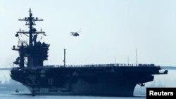 Portaaviones USS Carl Vinson. Los ejercicios militares conjuntos entre Estados Unidos y Corea del Sur son los más grandes realizados hasta ahora.