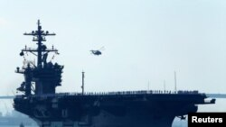 Tàu sân bay Carl Vinson của Hải quân Hoa Kỳ đang tiến về hướng bán đảo Triều Tiên.