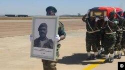 Chegada dos restos mortais do General Arlindo Chenda Pena Ben Ben