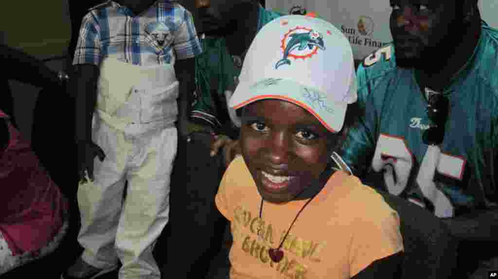 Nathana Gerome was treated for typhoid fever in US