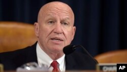 FILE - House Ways and Means Committee Chairman Kevin Brady, R-Texas., speaks during a meeting on Capitol Hill in Washington, March 28, 2017.