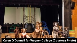 "Wagner College students perform in the musical, ""Cats."" Photo by Karen O'Donnell for Wagner College."