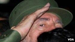 Fidel Castro ex president of Cuba.