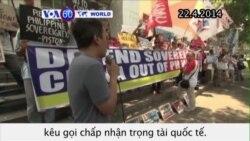 Philippines biểu tình phản đối hành động của TQ ở Biển Đông (VOA60)