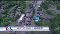 Lũ lụt ở Thái Lan, 25 người chết