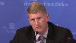 美国空军技术学院核威慑研究部主任洛瑟谈中国核威胁原声视频 (美国之音黎堡摄)