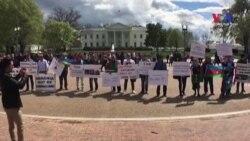 Azeriler'den Beyaz Saray Önünde Protesto